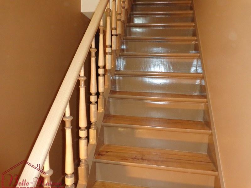 r novation d 39 escaliers en bois fa ades renovation ravalement peinture. Black Bedroom Furniture Sets. Home Design Ideas
